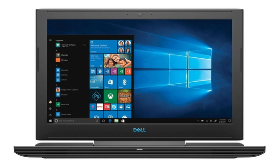 Notebook Dell G7 Gaming I7 32gb 1 Tera Ssd Nvme Pci-e + 2 Tera Vídeo Nvidia Gtx 1060 6gb 15,6 Full Hd Ips Windows 10 Pro