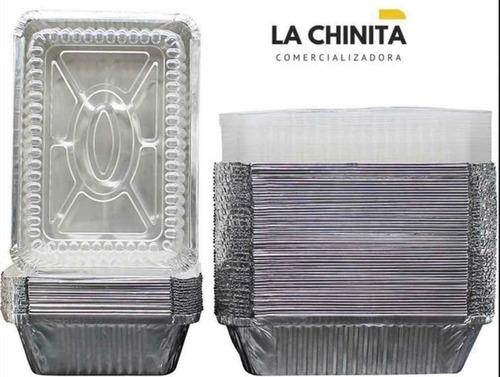 Envase Aluminio C-20 C20 Tapa Transparente X 100 Unidades