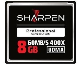 Cartão Compact Flash 8gb Sharpen 60mb/s (400x), Udma5 Sharpe