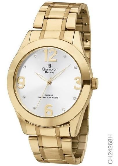 Relógio Champion Analógico Feminino Dourado Ch24268h