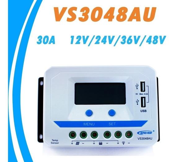 Controlador Carga 30a 12v/24v/36v/48v Epsolar Profissional