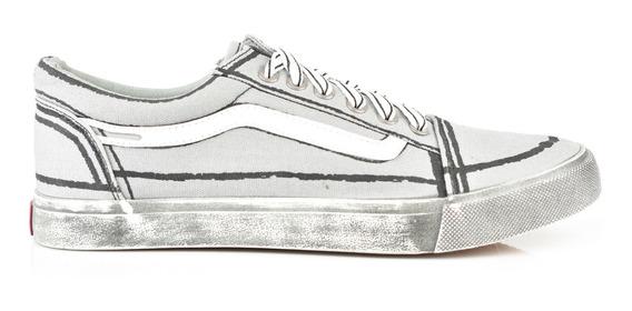 Tenis Urbanos Para Hombre Lob Footwear 901-9519 Gris Nuevo Oi19