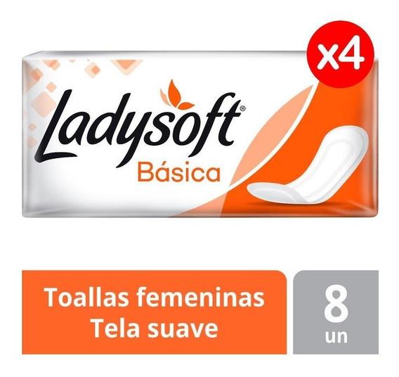 Toallas Femeninas Ladysoft Basica S/alas Pack X4