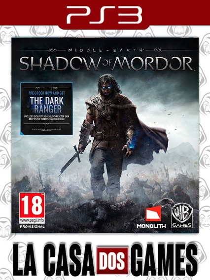 Middle-earth Shadow Of Mordor - Psn Ps3 - Envio Imediato