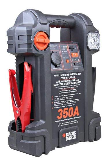 Auxiliar De Partida 350a 12v C/ Compressor E Luz Blackdecker