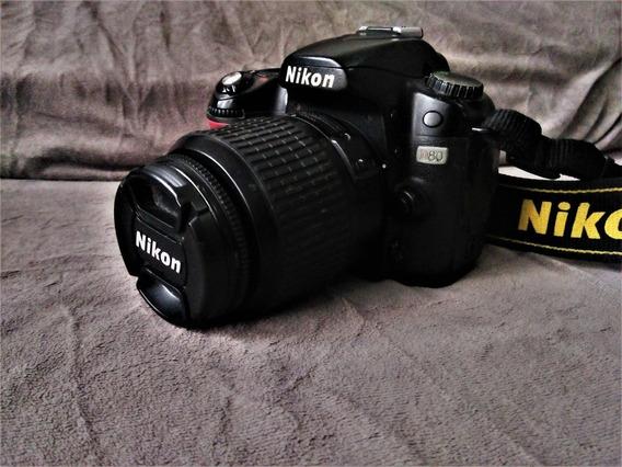 Nikon D80, 20k Clics, Lente 18-55, Bater., Carreg