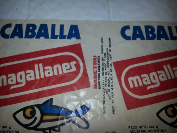 Etiqueta Caballa Magallanes Sasetru Alimentos Argentinos