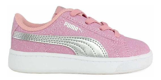 Zapatillas Puma Vikky V2 Glitz Ac Ros/pla De Niñas/bebes