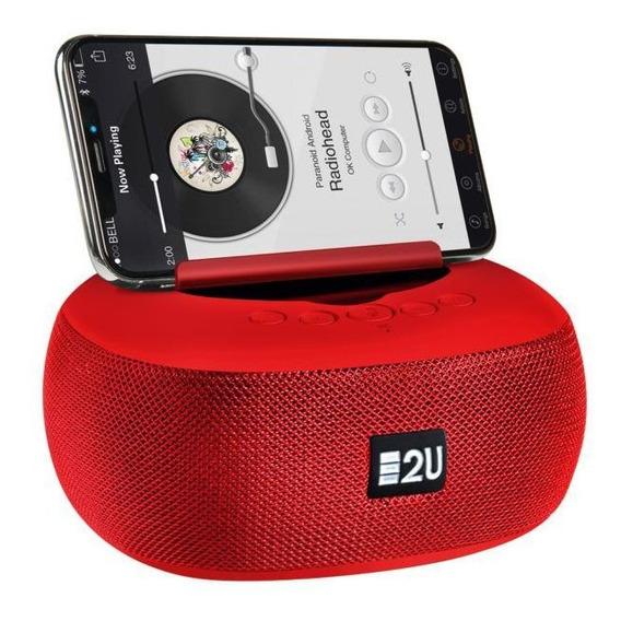 Caixa De Som 8w Bluetooth Vermelha - Energy2u