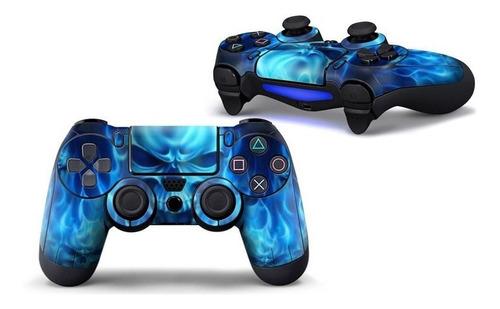 Imagen 1 de 1 de Ps4 Estampa Skin Control Para Playstation 4 (calaca Azul)