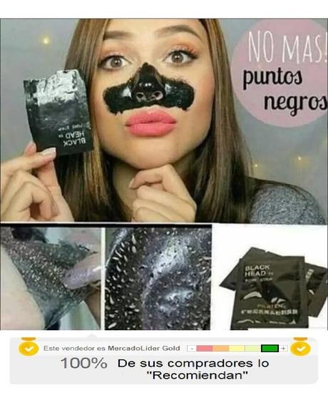 36 Mascarillas De Puntos Negros Black Head Al Mayor Y Detal
