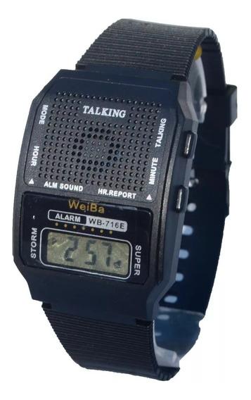 Kit Com 3 Relógio Fala Hora Deficiente Visual Promoção Top