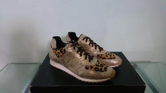 Zapatillas Mujer Cuero Legitimo Con Animal Print $1499