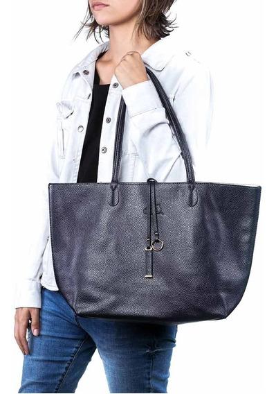 Bolsa Sacola Feminina Shopper Azul Marinho Oumai