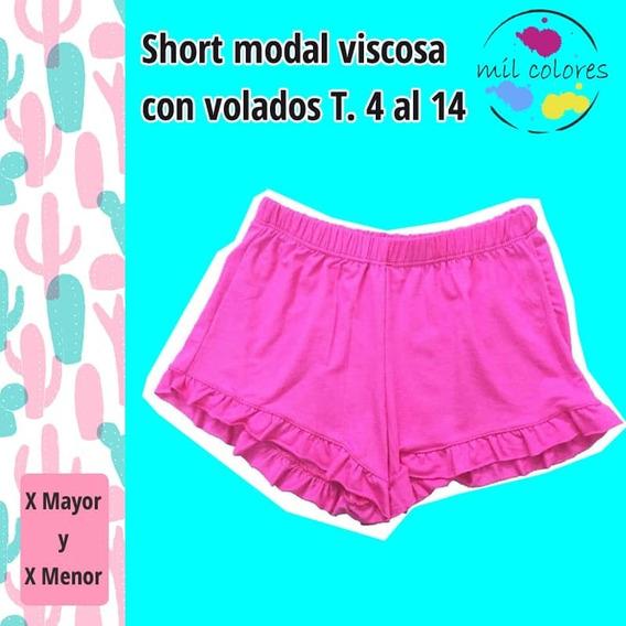 Short Voladitos Primavera Verano Modal Oferta Pantalon Nena