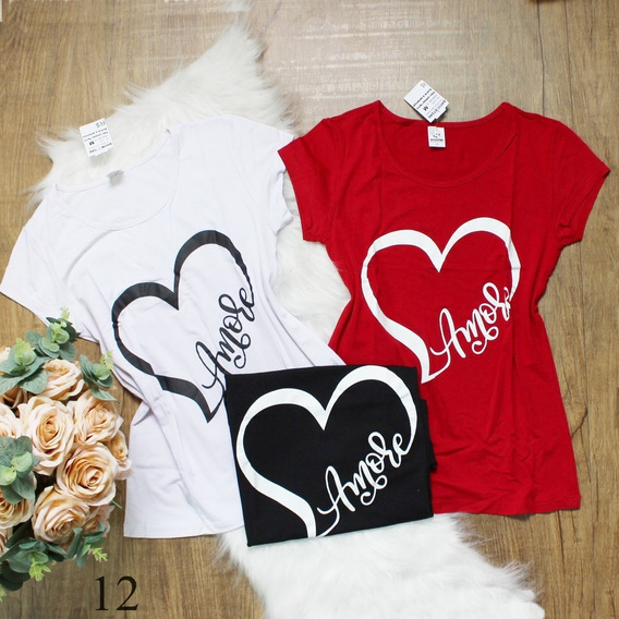 Blusinhas Femininas Camisetas T Shirt Lindas Estampadas 2899