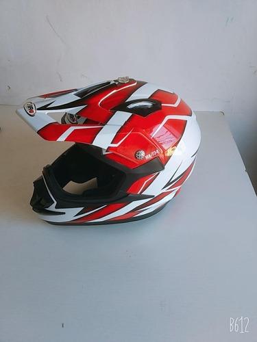 Casco Cross Shiro Mx 734 Rojo Talle L