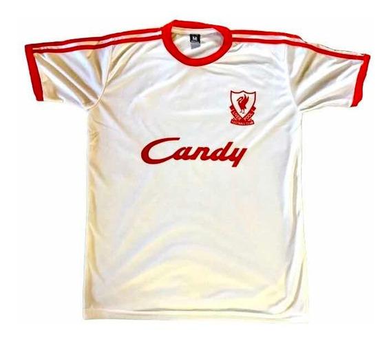 Camiseta Liverpool 1990 Retro Blanca Cuotas Y Envio Gratis