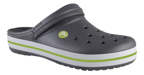 Crocs Crocband Unisex Gris Oscuro/verde