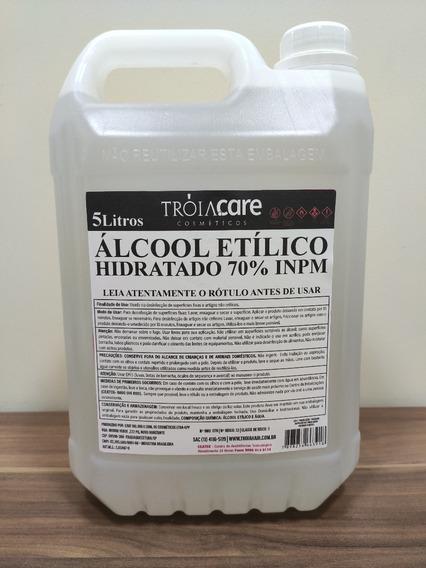 Álcool Etílico Hidratado 70% Galão 5 Litros - Troia Care