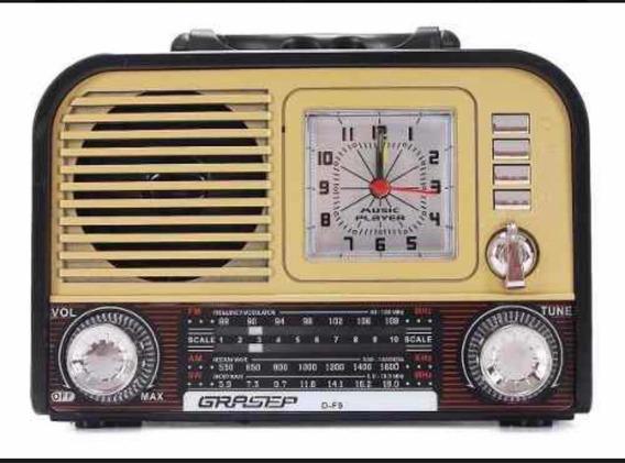Rádio Retro Antigo Usb Am Fm Bluetooth Recarregáveis