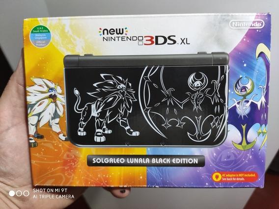 New Nintendo 3ds Xl Solgaleo + Carregador Original + Jogo
