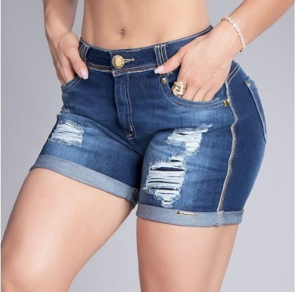 Shorts Jeans Fem Hot Pants Original Pit Bull Ref. 32596