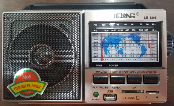Rádio Portátil Lelong Le-604 11 Faixas