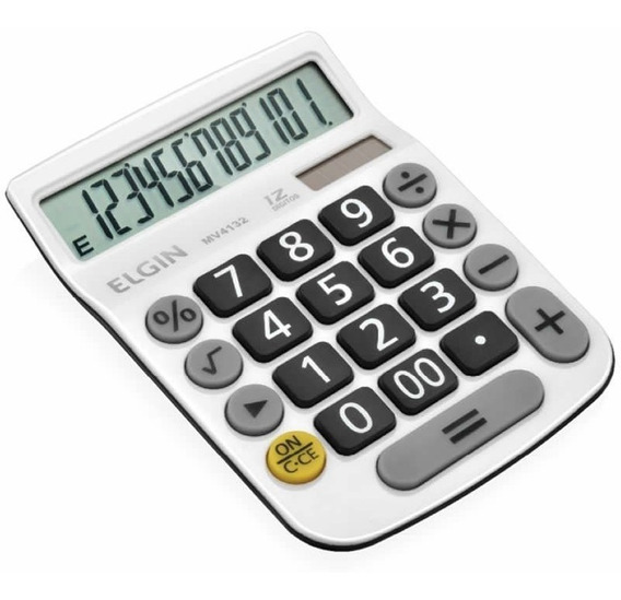 Calculadora De Mesa 12 Digitos Branca Mv-4132 Elgin 23876