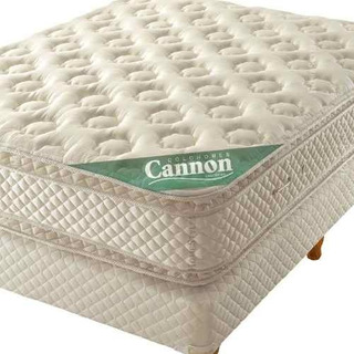 Colchon Y Sommier King Size 180x200cm Cannon Sublime Con Pillow Resortes Individuales