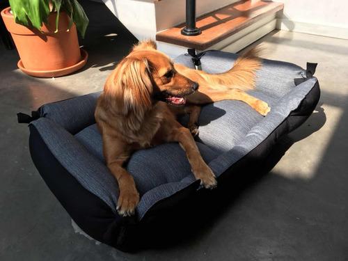 Cama Para Pets Grandes - Cinza E Preto
