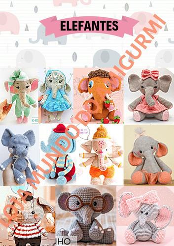 Elefante Receita de Amigurumi de Crochê por Little Bear Crochets | 500x353