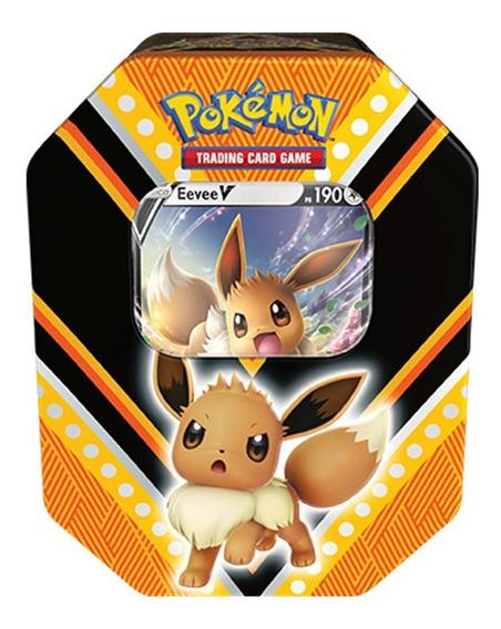 Card Game Pokémon Lata Poderes V Eevee Copag