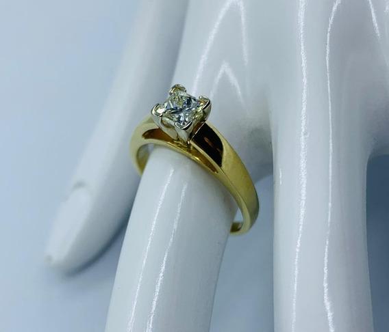 Anillo De Compromiso Oro 14k Diamante Natural .5 Ct Vvs1