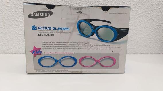Óculos 3d Samsung Kids Ssg-2200kr Moldura Azul E Rosa