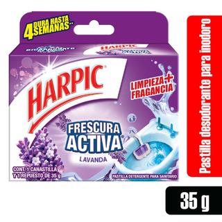 1 Canastilla Harpic Frescura Activa Lavanda + Repuesto 35g