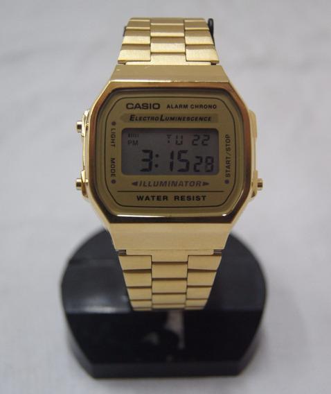 Relógio De Pulso Casio Linha Vintage Dourado