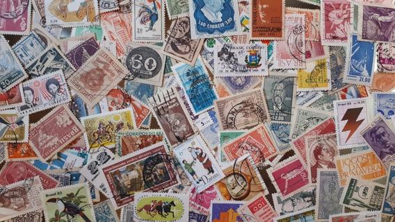 Lote Com 150 Selos Comemorativos Usados Diferentes - Brasil