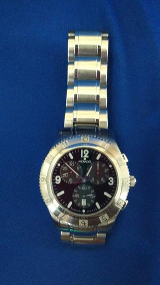 Reloj Movado Para Hombre 84 F9 1890 Cronógrafo Dial Negro