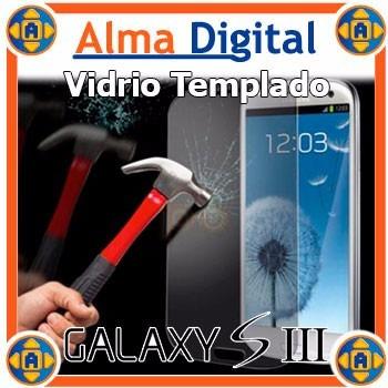 Protector Vidrio Templado Lamina Antigolpe Samsung S3 Siii