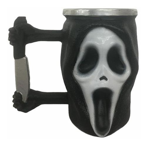 Imagem 1 de 1 de Caneca De Resina 3d Terror Scream Pânico Ghostface 250ml