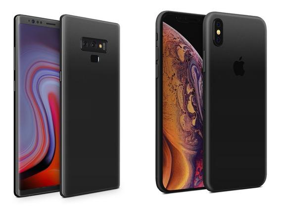 Skin Negro Mate Para Apple Samsung Huawei Lg Sony Xiaomi Etc