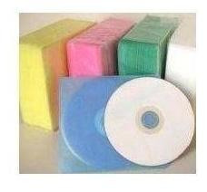 Imagen 1 de 2 de Estuche Bolsa Funda Plástica Para Cd Y Dvd En 5 Colores