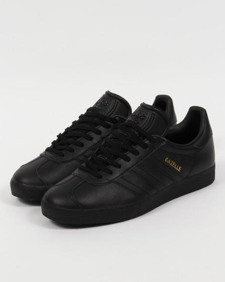Zapatillas adidas Gazelle Cuero Negra - 10 Us