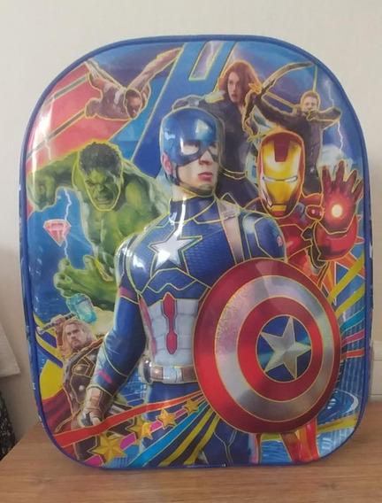 Mochila Espalda Jardin 12 Pulg. Avengers Capitan America