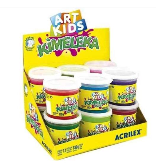 Kimeleka Slime Art Kids180g Cx 24unid Acriclex