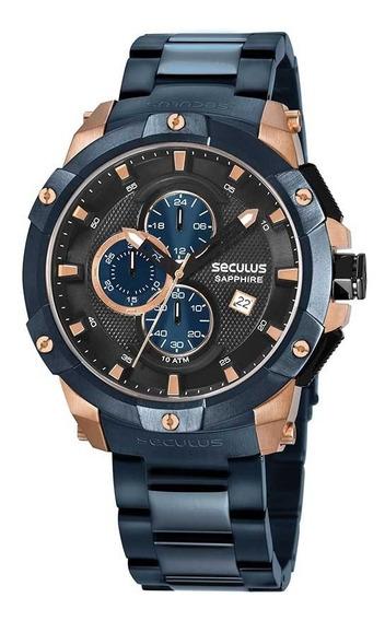 Relógio Seculus Masculino 13026gpsvva4 Cronograf