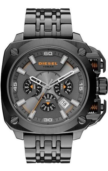 Relógio Diesel Bamf Cronógrafo Dz7344/1cn *gunmetal