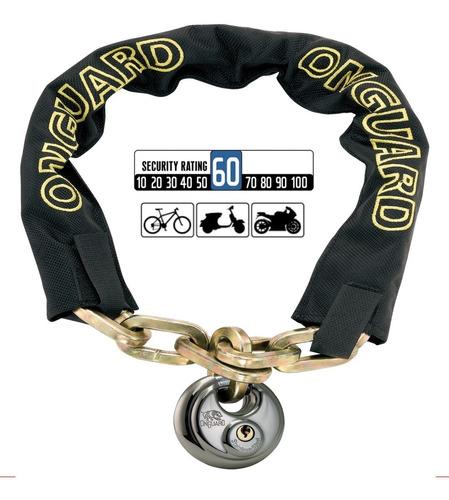 Candado Bicicleta Onguard Mastiff 8022 D - Cadena Seguridad