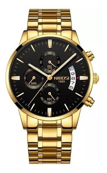 Relógio Nibosi Com Cronógrafo Modelo 2309 Original